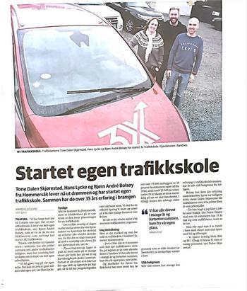 Avisartikkel om 3X i Sandnesposten